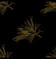 Golden fir branches decor seamless pattern