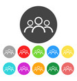 Group people icon color flat vector image