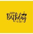 Happy Birthday label vector image vector image