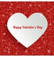 Happy Valentines Day Greeting Card with 3d White vector image vector image