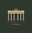 image brandenburg gate in berlin vector image vector image
