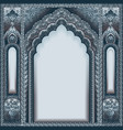 indian ornamented arch color silver vector image vector image