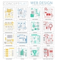 Infographics mini concept Web design icons for web vector image vector image