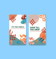 instagram template with shopping design vector image vector image