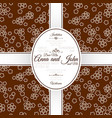 invitation card with brown japanese pattern vector image vector image