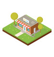 isometric small shop vector image vector image