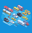 isometric transport infographics vector image