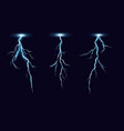 lightning bolts realistic set vector image