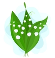 Lily of the Valley on a Blue Background vector image vector image