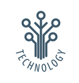 logo tree chip technology vector image