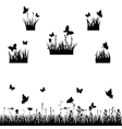 meadows silhouette vector image