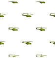 military helicopter pattern flat vector image vector image