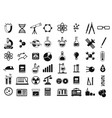 monochrome set of different chemical symbols and vector image