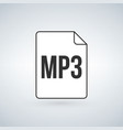 mp3 icon labeled mp3 music audio format file type vector image
