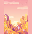 nature background autumn sky vector image vector image
