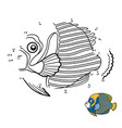 numbers game emperor angelfish vector image vector image