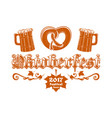 oktoberfest beer festival 2017 vector image