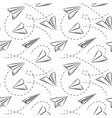 Paper plane seamless pattern