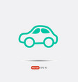 pictograph of car logo vector image vector image