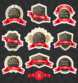 Premium quality label set 1 vector image