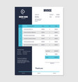 quotation invoice layout template paper sheet vector image
