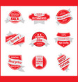 red marketing label set 7 vector image vector image