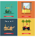 set of egypt concept posters banners in vector image vector image
