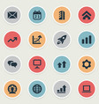 set of simple teamwork icons elements construction vector image vector image
