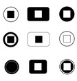 set stop button icon on white background flat vector image vector image