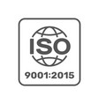 symbol iso 9001 2015 certified vector image