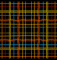 tartan embroidery colorful seamless pattern vector image vector image