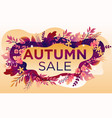 trendy fall sale poster with gradient bright vector image