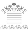 vintage template of wedding congratulations card vector image