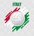 volleyball italy background vector image vector image