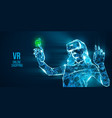 vr headset holographic virtual reality glasses vector image