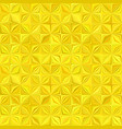 yellow geometric stripe mosaic pattern background vector image vector image