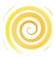 yellow watercolor spiral vector image vector image
