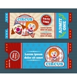 Circus ticket template vector image