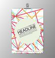 Abstract modern Brochure Flyer design paper clip vector image