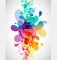 abstract colored flower background with circles vector image vector image
