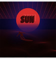 abstract surfing sun vector image vector image