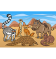 african mammals animals cartoon vector image