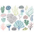 aquarium corals and seaweed marine ocean coral vector image