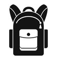 backpack icon simple style vector image vector image