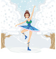 beautiful figure skater vector image vector image