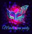 beautiful masquerade party poster vector image vector image