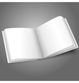 Blank white opened book or photo album for your vector image vector image