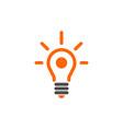 bulb abstract logo icon concept vector image