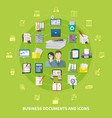 business items and icon set vector image vector image