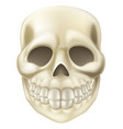 cartoon halloween scull vector image vector image